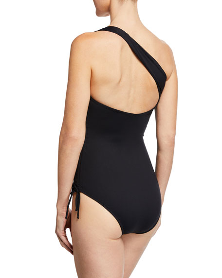 cb28f9d112 Image 2 of 2: Melissa Odabash Polynesia One-Shoulder Ruched One-Piece  Swimsuit
