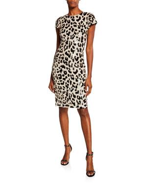 5648a38a20b9 Alice + Olivia Nat Embellished Short-Sleeve Dress