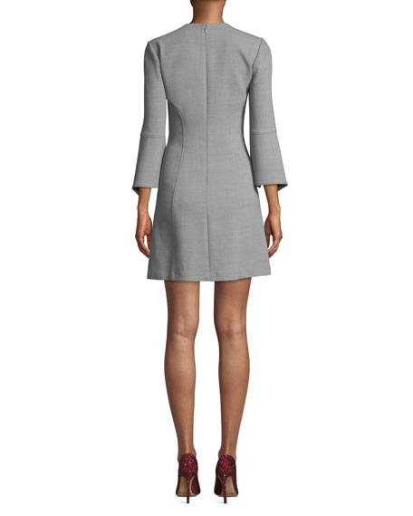 Image 2 of 3: Badgley Mischka Collection Split-Sleeve Mini Dress