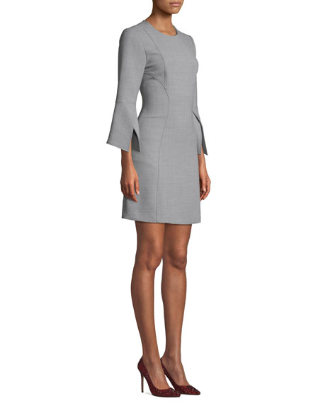 Image 3 of 3: Badgley Mischka Collection Split-Sleeve Mini Dress