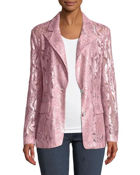 Berek Plus Size Foil Lace Blazer