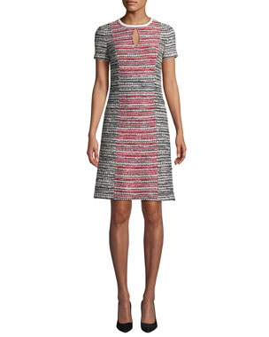 26977faf1e37 St. John Collection Amelia Tweed Colorblock Sheath Dress