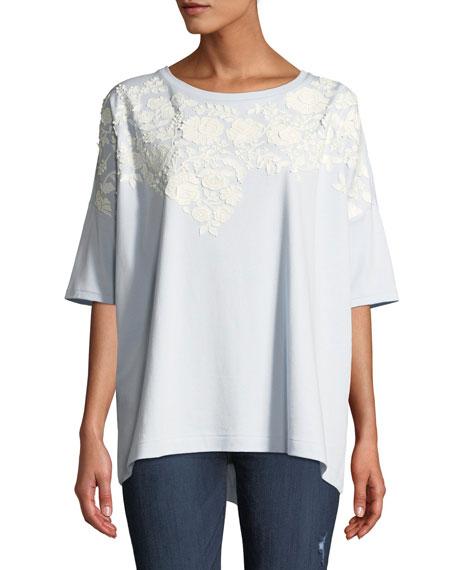 Joan Vass Plus Size Short-Sleeve Relaxed Big Tee