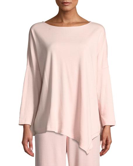 Joan Vass Plus Size Oversized Long-Sleeve Pullover w/