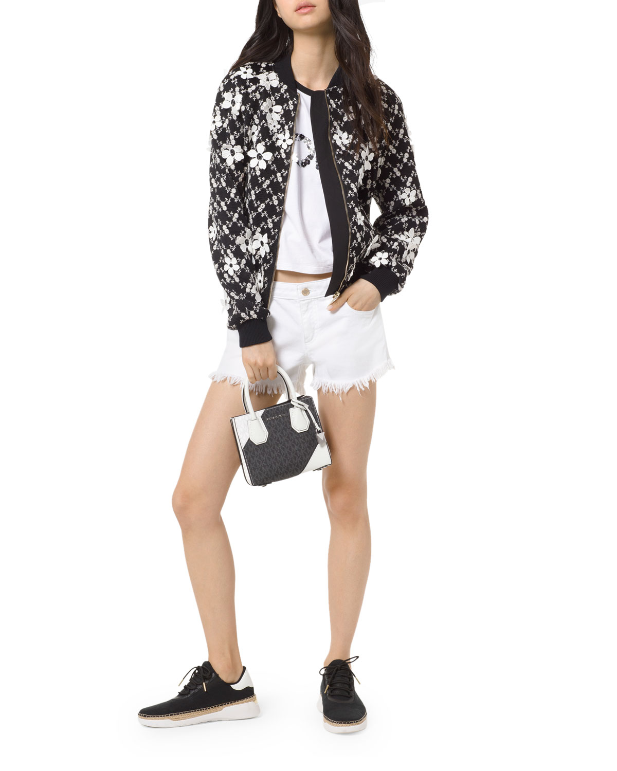 b14b3a203 Garden Floral Embroidered Mesh Bomber Jacket