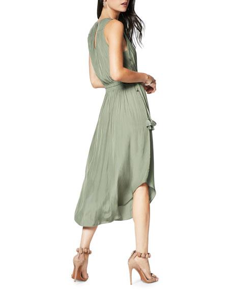Ramy Brook Hailey Shirred Sleeveless Midi Dress