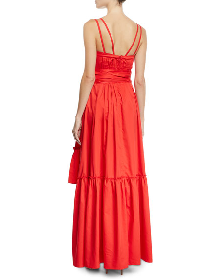 Alexis Ophira Tiered Sleeveless Maxi Dress with Sash