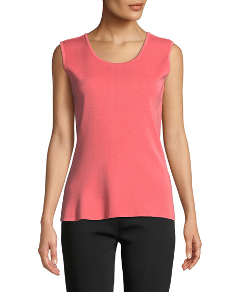 Image 1 of 2: Misook Scoop-Neck Knit Tank