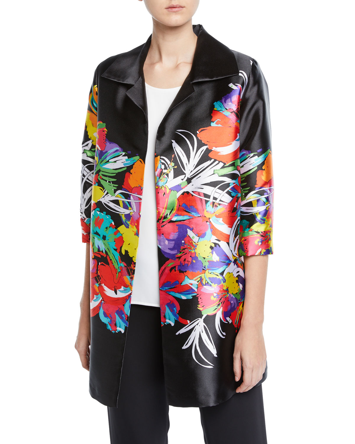 Caroline Rose Plus Size Tropical Punch Party Jacket