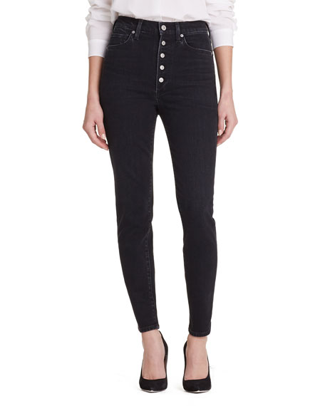 Citizens of Humanity Olivia High-Rise Button-Fly Straight-Leg
