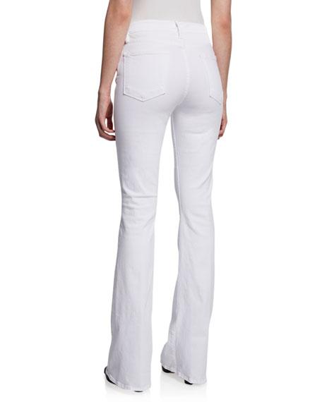 FRAME Le High Flare High-Rise Skinny Jeans