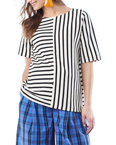 Nursing Ginger Striped Top