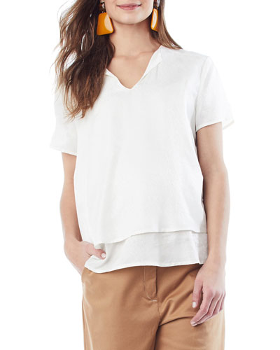 Nursing Katherine Short-Sleeve Top