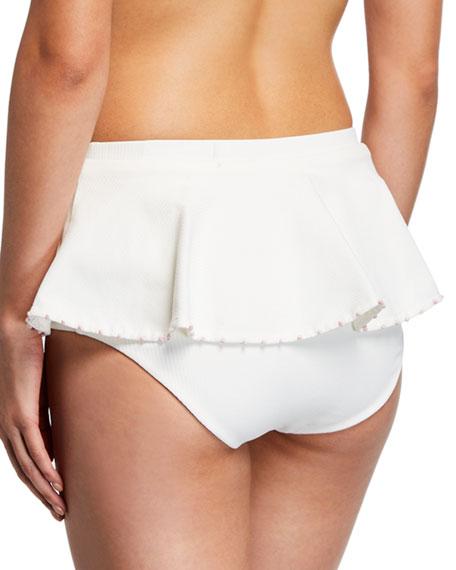 Marysia French Gramercy Ruffled Solid Swim Bikini Bottoms