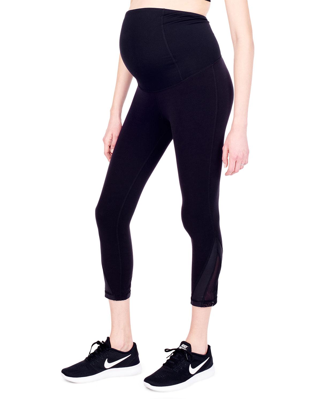 7438689328584 Ingrid & Isabel Maternity Active Mesh Detail Capri Leggings | Neiman ...