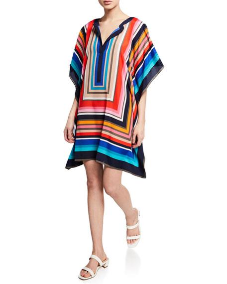 Trina Turk  THEODORA JET SET STRIPE CAFTAN DRESS