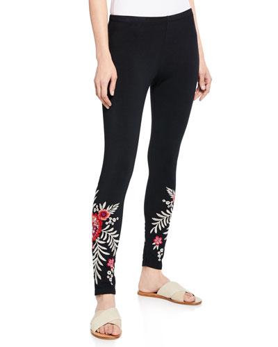 Maya Floral Embroidered Leggings