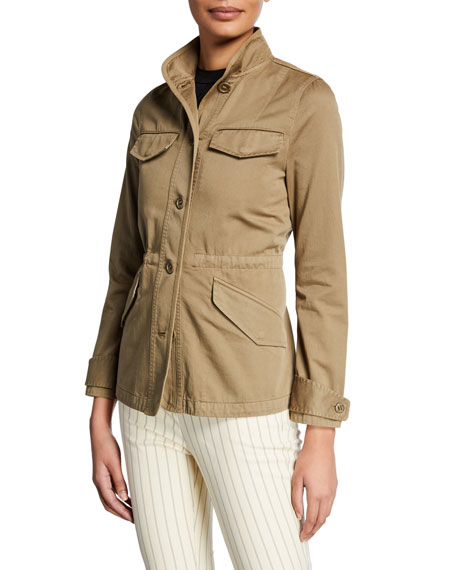 Rag & Bone Daniella Washed Button-Front Utility Jacket