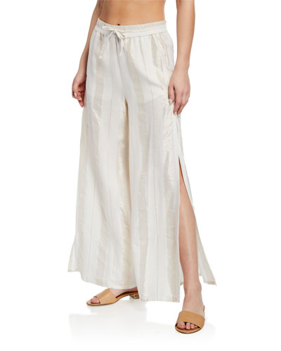Chloe Wide-Leg Coverup Pants