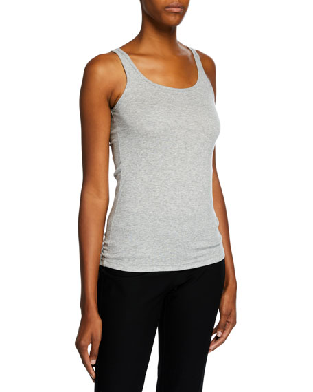 Eileen Fisher MicroTencel Ribbed Scoop-Neck Slim Tank Top,