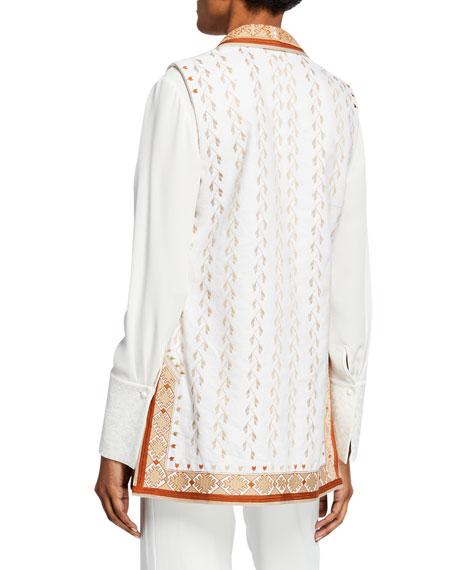 Kobi Halperin Lili Embroidered Vest with Shawl Collar