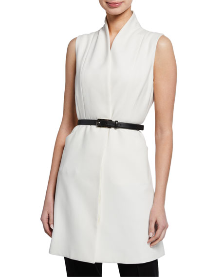 Elie Tahari Savannah Button-Front Vest