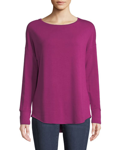 French Terry Long-Sleeve Top