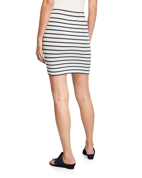 ATM Anthony Thomas Melillo Striped Micro Modal Mini Skirt