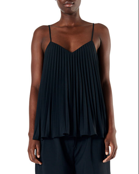 Tibi Edith Pleating Cami