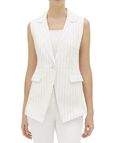 Vanya Glove Striped Lambskin Vest