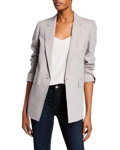 Rhoda Illustrious Linen One-Button Blazer