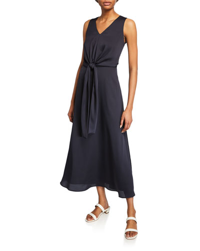 Ambrosia V-Neck Sleeveless Carlisle Cloth Dress
