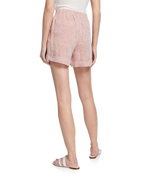Lafayette 148 New York Columbus Pull-On Linen Shorts