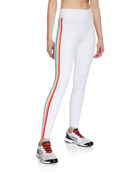 Spiritual Gangster Side-Stripe High-Waist Track Tights