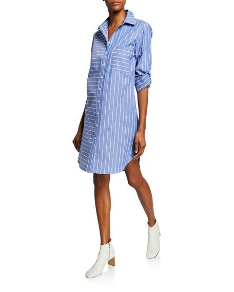 Finley Parker Mixed Stripe Long-Sleeve Shirtdress