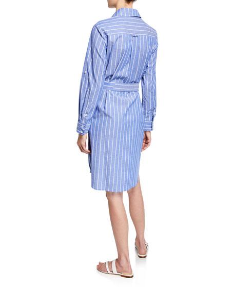 Finley Petite Parker Mixed Stripe Long-Sleeve Shirtdress