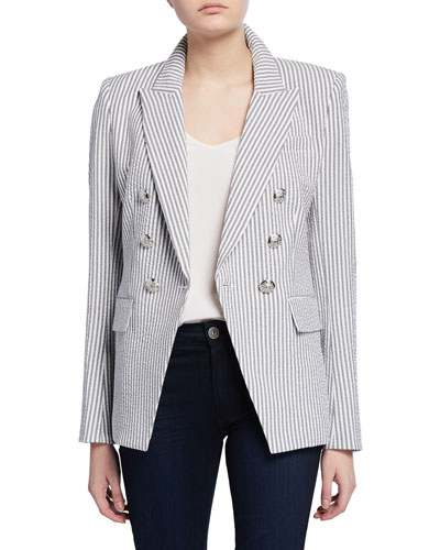 Miller Double-Breasted Check Dickey Jacket