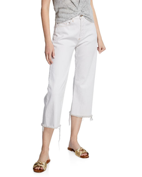 Veronica Beard Rockwell High-Rise Straight Cropped Jeans
