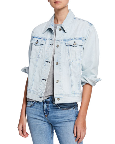 Rag & Bone Oversized Button-Front Denim Jacket