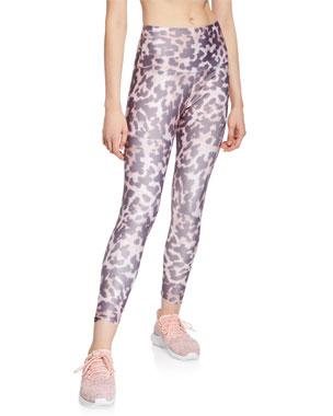 f4299249433be Onzie High-Rise Basic Midi Animal-Print Yoga Leggings