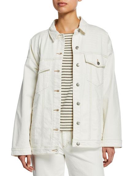 Eileen Fisher Oversized Denim Jean Jacket
