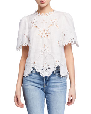 shades of official images closer at Women's Blouses at Neiman Marcus
