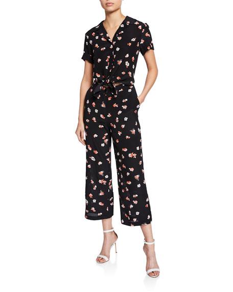 PINKO Celeste Floral Cropped Jumpsuit