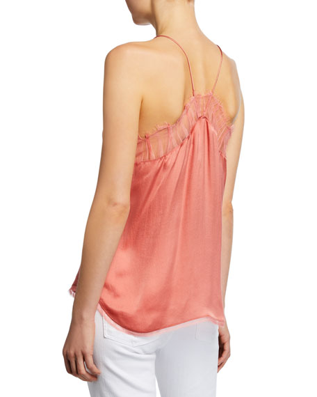 Image 2 of 2: Iro Berwyn Silk Cami with Lace Trim