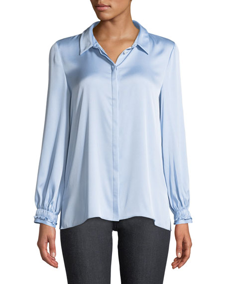 Kobi Halperin Ella Long-Sleeve Silk Blouse