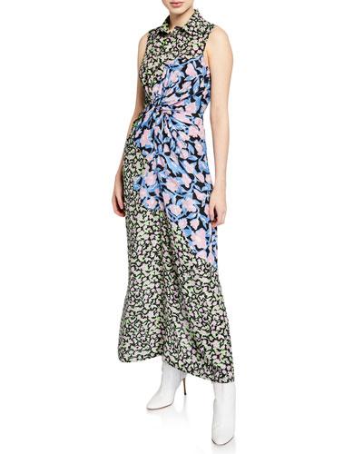 Dijara Floral Patchwork Dress