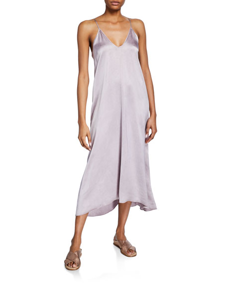 Forte Forte Shaded Satin Sleeveless Dress with Knot Detail