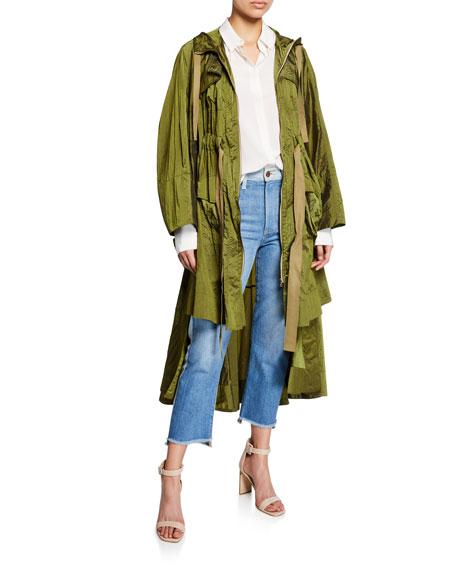 palmer//harding Brooke Hooded Tiered Ruffle Coat