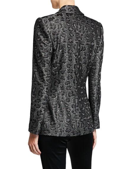 St. John Collection Jacquard Animal-Print Sequin Jacket