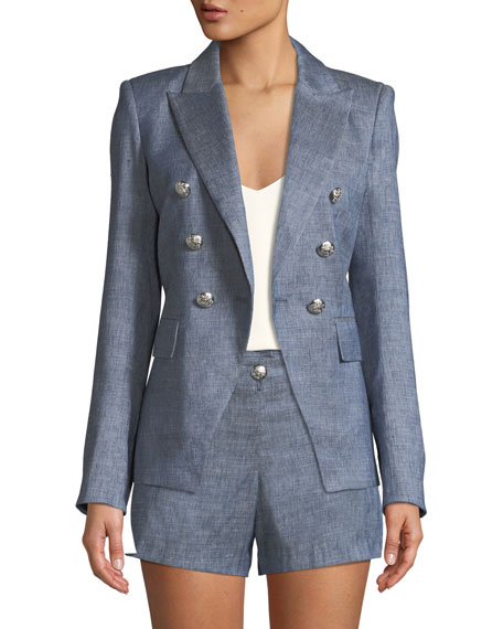 Veronica Beard Miller Double-Breasted Dickey Jacket